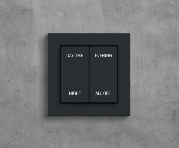 Hotel room light switch with scenes control